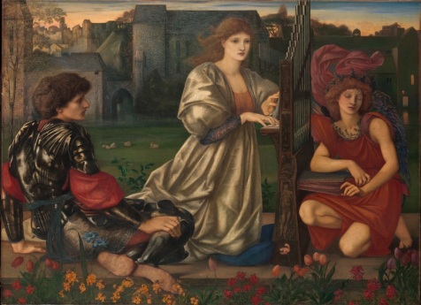 Sir Edward Burne-Jones (1833–1898): The Love Song, 1868–77. Oil on canvas, 45 x 61 3/8 in. (114.3 x 155.9 cm). The Metropolitan Museum of Art.