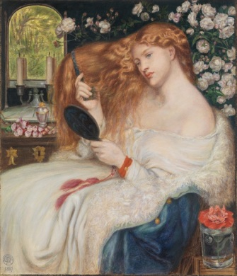 Dante Gabriel Rossetti (1828–1882) and Henry Treffry Dunn (1838-1899): Lady Lilith, 1867. Watercolor and gouache on paper, 20 3/16 x 17 5/16 in. (51.3 x 44 cm). The Metropolitan Museum of Art.
