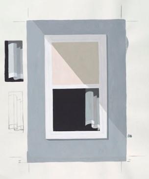 Richard McGuire (b. 1957) Window (cover of Here) 2014 Acrylic on panel Courtesy of Richard McGuire