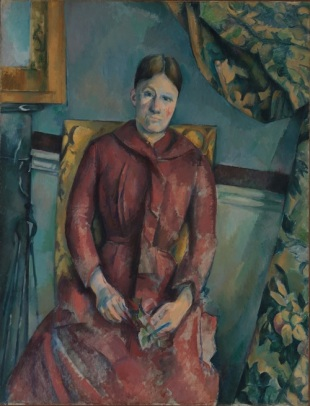 Paul Cézanne (French, Aix-en-Provence 1839­1906 Aix-en-Provence) Madame Cézanne (Hortense Fiquet, 1850­1922) in a Red Dress 1888­90 Oil on canvas, 45 7/8 x 35 1/4 in. (116.5 x 89.5 cm) The Metropolitan Museum of Art, The Mr. and Mrs. Henry Ittleson Jr. Purchase Fund, 1962