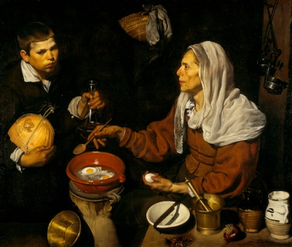 Diego Velázquez An Old Woman Cooking Eggs, 1618 Oil on canvas 39 ½ x 47 inches Scottish National Gallery, Edinburgh © Trustees of the National Galleries of Scotland
