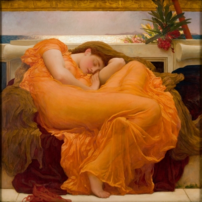 Frederic Leighton (1830–1896), Flaming June, ca. 1895. Oil on canvas. Museo de Arte de Ponce. The Luis A. Ferré Foundation, Inc.