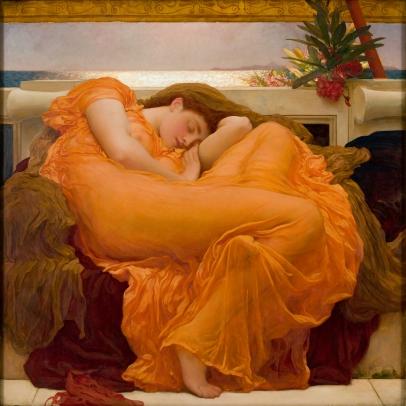 Frederic Leighton (1830–1896), Flaming June, ca. 1895. Oil on canvas. Museo de Arte de Ponce. The Luis A. Ferré Foundation, Inc.